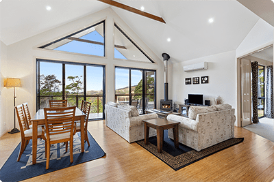 Living Dining Space | Holiday Mountain Retreat | Queensland | Ravensbourne Escape