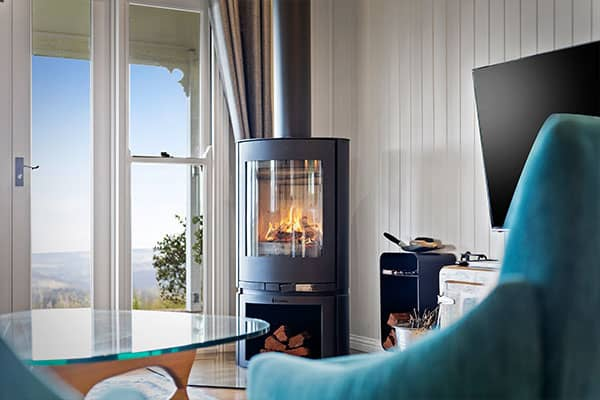Fireplace | Holiday Mountain Retreat | Queensland | Ravensbourne Escape